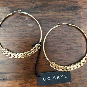 CC Skye Gold Hoops NEW!
